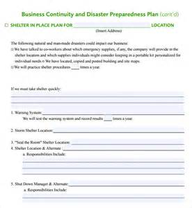 Business Plan Template Gov by Sle Business Continuity Plan Template 8 Free