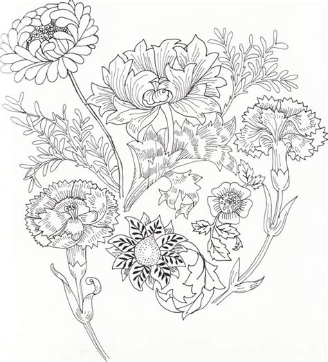 1000 Images About Flower Coloring On Pinterest Coloring William Morris Colouring Pages