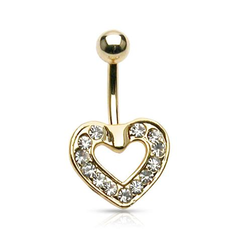 gold plated floating belly ring belly button rings
