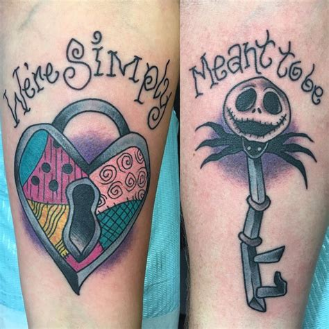 nightmare before christmas couple tattoos nightmare before tattoos tattoos