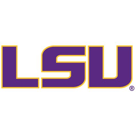 logo louisiana state university tigers purple lsu gold