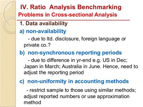 cross sectional ratio analysis 7 limitations of ratio analysis