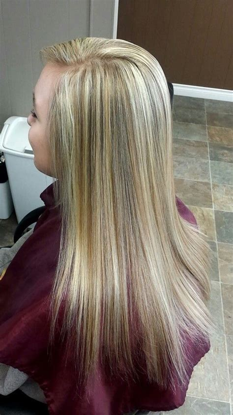 fine blonde highlights fine weave highlight on natural level 6 hair color