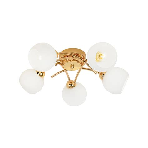 Gold Ceiling Light Endon Lighting Brolin 5go 5 Light Globe Semi Flush Gold Ceiling Light Endon Lighting From The
