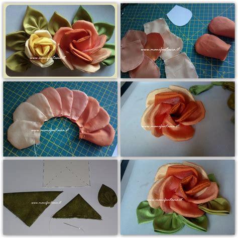 come fare fiori in tessuto di stoffa fai da te tutorial manifantasia