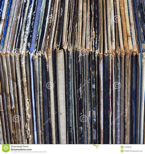 Records In Stack Of Vinyl Records In Envelopes Stock Photo Image 47402048
