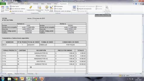 modelo de boletas tutorial como llenar formato de factura de ventas youtube