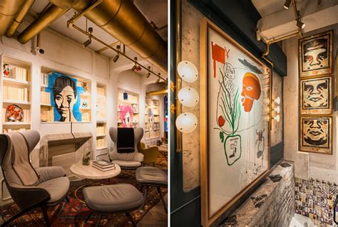 designboom restaurant bibo restaurant in hong kong furnished with street art