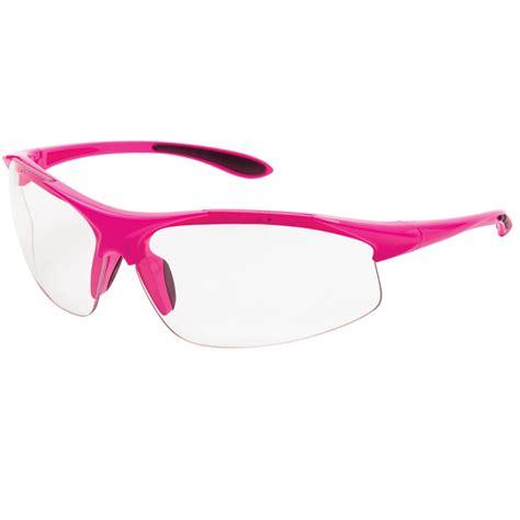erb ella safety glasses pink frame clear lens