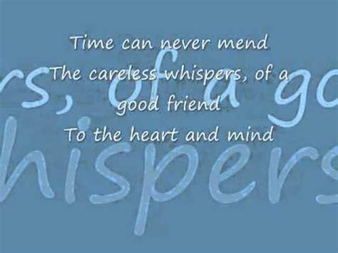 Play A Whisper On Pillow Lyrics George Michael Careless Whisper Never Gonna Again