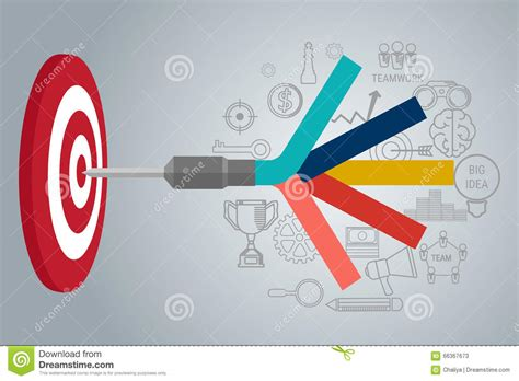 the goal a business graphic novel business target concept infographic goal setting smart