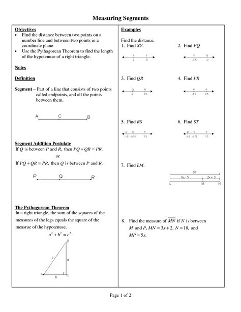 line segment addition postulate worksheets solution
