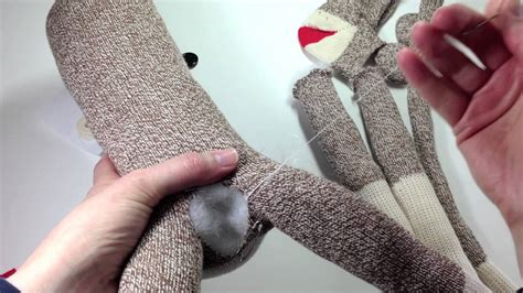 build a sock monkey 2015 how to make a sock monkey tutorial using a pre sewn kit