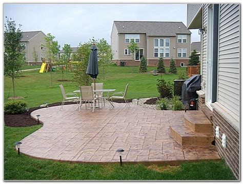 Poured Concrete Patio by Poured Concrete Patio Designs Curved Back Yard Patio Broom