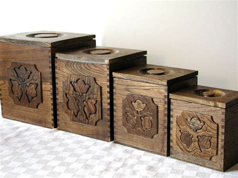 wooden kitchen canister sets 45 vintage wooden kitchen canister set kitchen