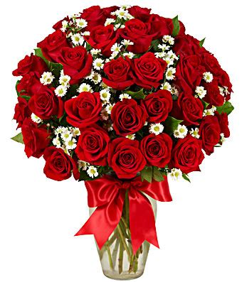 Personalized Wedding Vase 3 Dozen Roses Red At From You Flowers