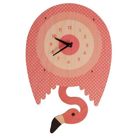 clock flamingo pendulum clock modern moose