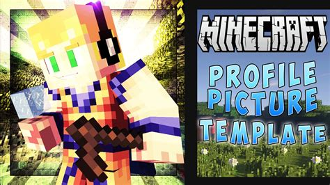 minecraft profile picture template free minecraft profile picture template free