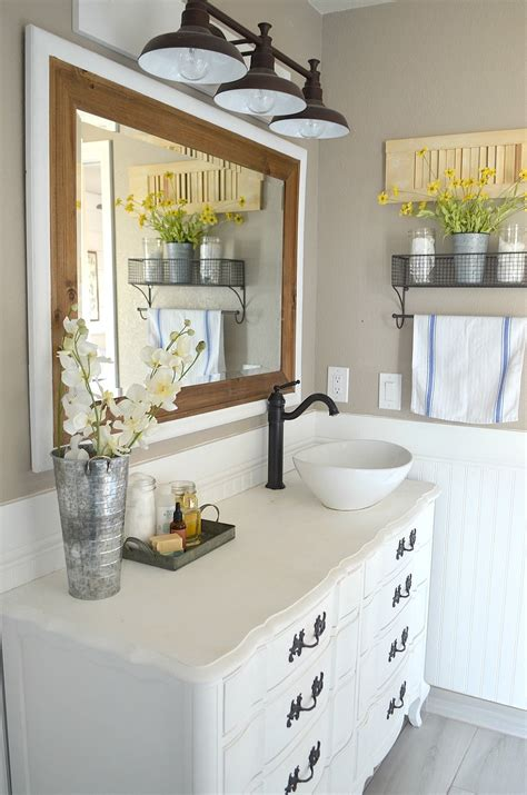 modern farmhouse bathroom honest review of my chalk painted bathroom vanities