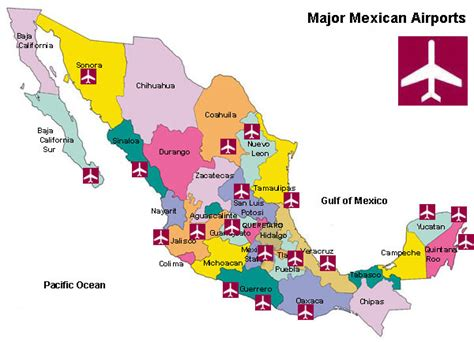 map mexico airports major airports in mexico map mexico map