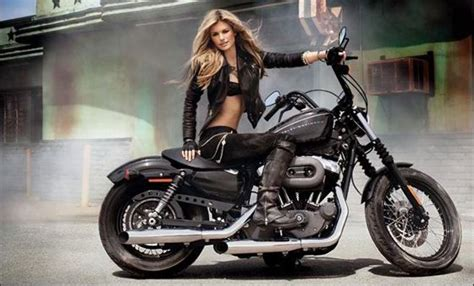 Motorrad Lifestyle Magazin by Harley Davidson Plus Marisa Miller Perfect Advertisement