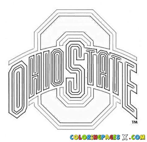 Ohio State Coloring Page painted by