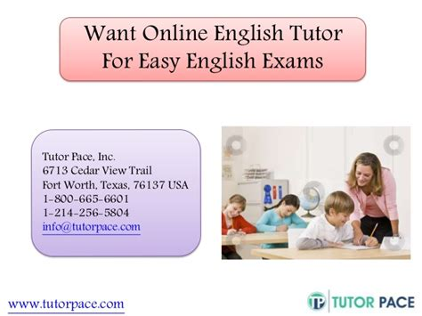 online tutorial in english want online english tutor for easy english exams