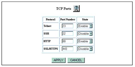 http number changing the tcp number for http and telnet requests