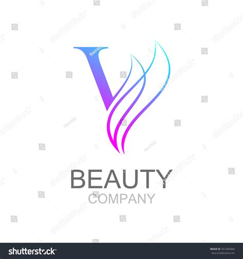 template pattern vs abstract class abstract letter v logo design template stock vector