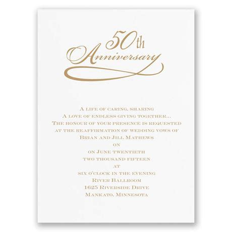 50th anniversary invitations classic 50th anniversary invitation invitations by