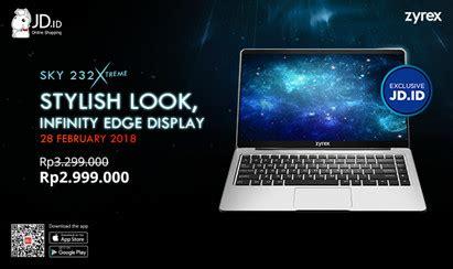 Zyrex Sky 232 zyrex jd id hadirkan laptop murah dengan bodi logam