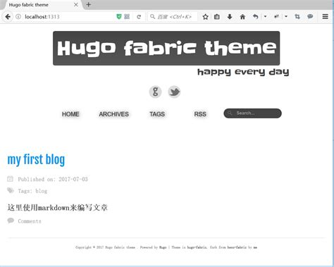 hugo themes blog hugo快速搭建blog 布布扣 bubuko com