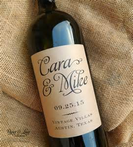 Custom Labels For Favors by Personalized Wedding Wine Labels Favor By Paperandlaceaustin