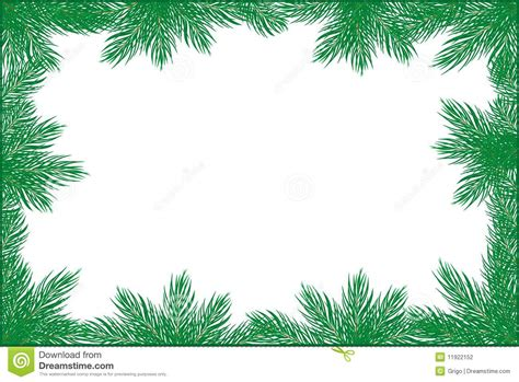 Card Frames Templates Pine Boughs by Pine Frame Stock Photography Image 11922152