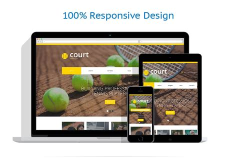 tennis responsive website template 48770