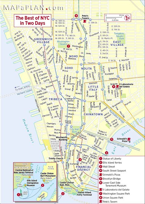 best map of new york city map of new york top tourist attractions