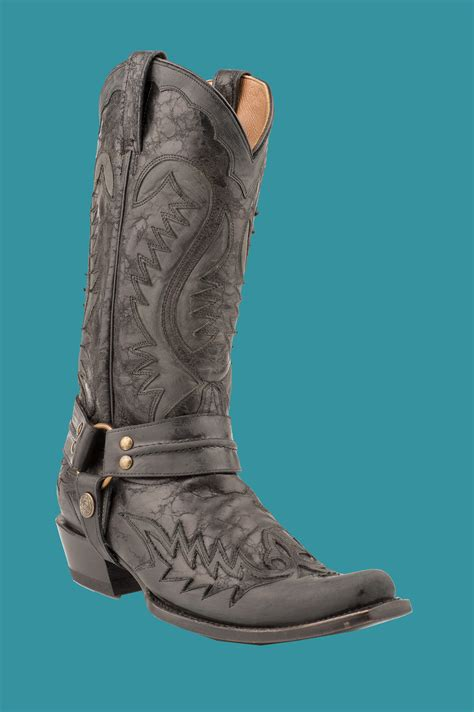 stetson mens cowboy boots stetson s distressed black w harness 13 shaft cowboy
