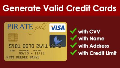 Credit Card Security Code Generator Template by Trick How To Get An Anonymous Usable Credit Card Hacks
