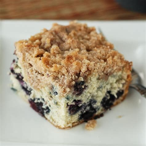 sugar roasted peach and blueberry bacon infused buckle recipe dishmaps