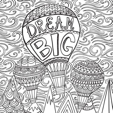 hair dreams coloring book for adults books 91 best images about colouring air balloons on