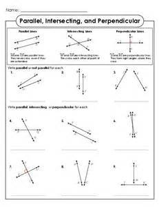 Parallel perpendicular intersecting lines in this identifying lines
