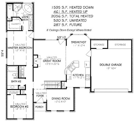 Traditional Plan 3 065 Square 4 Bedrooms 3 Traditional 4 Beds 3 Baths 2056 Sq Ft Plan 424 66