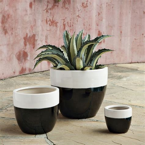 claude planters white contemporary indoor pots and