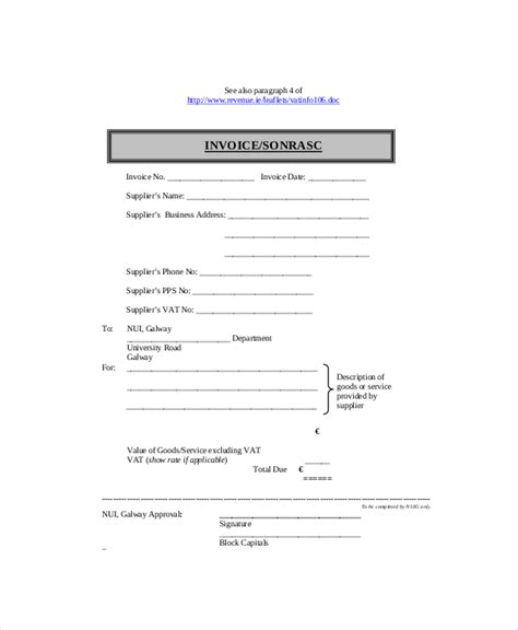 invoice template for self employed self employed invoice template 8 free word excel pdf