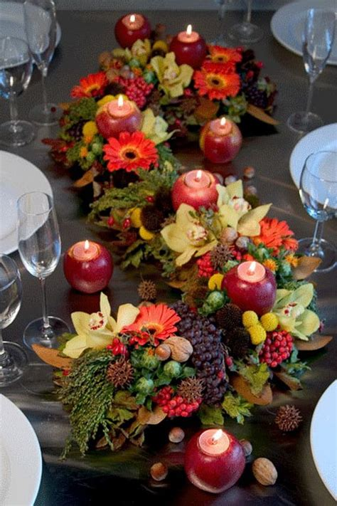 fall decorations for tables thanksgiving table decorations autumn