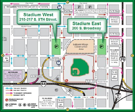 Parking Garage Near Busch Stadium by Busch Stadium Information Parking Cardinals Ballpark