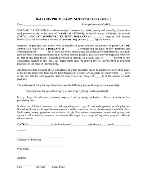 Loan Letter With Collateral Best Photos Of Promissory Contract Template Promise To
