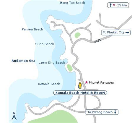 kamala resort map kamala hotel resort