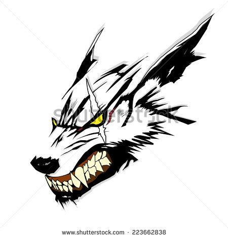 vector symbol tattoo wolf stock vector 223662838