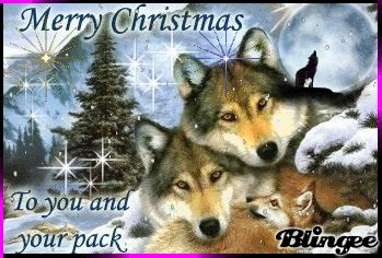 merry christmas   wolves picture  blingeecom